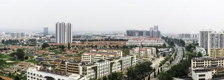 Przegapiać Rizhao miasto zdjęcia royalty free