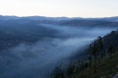 Przegapiać smokey góry dolinę zdjęcie royalty free