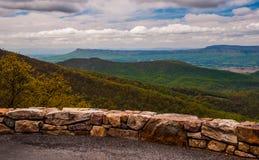 Przegapia na linii horyzontu przejażdżce w Shenandoah parku narodowym, VA Zdjęcie Stock