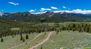 Przegapia na Sawtooth Scenicznym Byway, Idaho zdjęcia stock