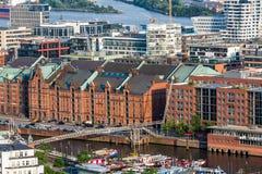 Przegapia stara grodzka część Hamburg, Niemcy obraz stock