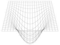 Przegięta siatka w perspektywie 3d siatka z wypukłym wykoślawieniem ilustracji