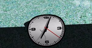 Przegięta twarz zegarowego czasu upływu animacja zdjęcie wideo