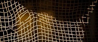 Przegięty ośniedziały drucianej siatki ogrodzenie obrazy stock