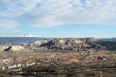 Przegląd Nadzwyczajny widok góra Erciyes zdjęcie stock