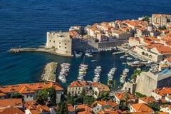 Przegląd stary miasteczko Dubrovnik, Chorwacja zdjęcie stock