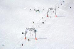 Przegląd Austriacki ośrodek narciarski w Alps Fotografia Royalty Free
