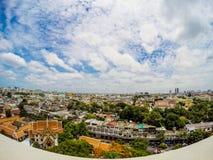 Przegląd Bangkok, Tajlandia, pejzaż miejski z otwartym niebem zdjęcia royalty free