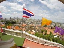 Przegląd Bangkok, Tajlandia, pejzaż miejski z otwartym niebem zdjęcia stock