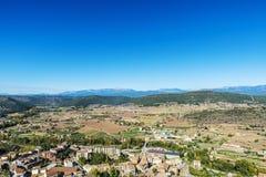 Przegląd Cardona w Catalonia, Hiszpania obrazy royalty free