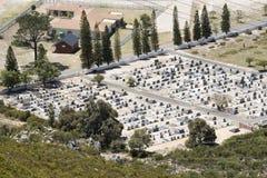 Przegląd cmentarz w Zachodniej przylądek afryce poludniowa fotografia stock