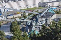 Przegląd, część saugbrugs papierowa fabryka Zdjęcie Stock