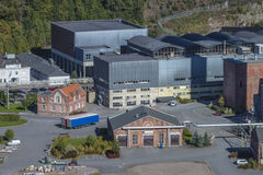 Przegląd, część saugbrugs papierowa fabryka Zdjęcia Royalty Free
