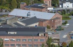 Przegląd, część saugbrugs papierowa fabryka Obraz Stock