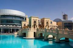 Przegląd Dubaj centrum handlowe w Dubaj Obraz Royalty Free