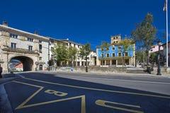 Przegląd Elgeta kwadrat z swój urzędem miasta zdjęcia royalty free
