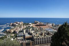 Przegląd Fontvieille, Monaco fotografia royalty free