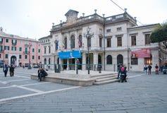 Przegląd główny plac miasto Savona obrazy royalty free