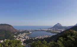 Przegląd Ipanema, Lagoa, Leblon i Rio De Janeiro, -, Brazylia obrazy royalty free