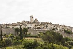 Przegląd mała wioska Saint Paul De Vence, zdjęcie stock