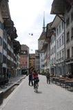 Przegląd miasto ulicy danikem kwatery główne nuc obraz royalty free