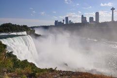 Przegląd Niagara lub Amerykański spadek, NYï ¼ ŒUSA obraz stock