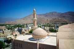 Przegląd Nizwa miasteczko w Oman fotografia royalty free