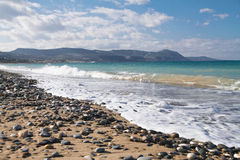 Przegląd od Polisa plaży fotografia royalty free