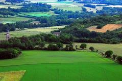 przegląd Odległa Burgundy Rolnicza wieś zdjęcia royalty free