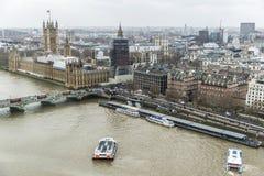Przegląd pałac Westminister w Londyn, Zjednoczone Królestwo zdjęcia royalty free