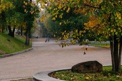 Przegląd park w jesieni w Ukraina obrazy stock