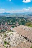 Przegląd przeglądać od Tampa góry Brasov miasto, Brasov, Rumunia zdjęcie royalty free