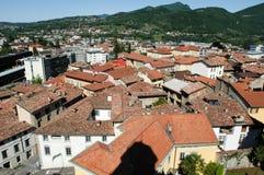 Przegląd przy miasteczkiem Mendrisio obrazy stock