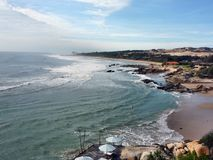 Przegląd ranku oceanu fale obrazy royalty free