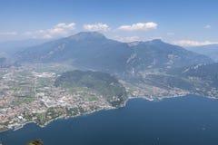 Przegląd Riva Del Garda obraz stock