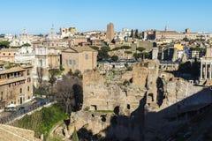 Przegląd Rzym, Włochy zdjęcia royalty free
