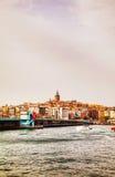 Przegląd stary Istanbuł z Galata wierza Zdjęcia Stock