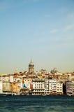 Przegląd stary Istanbuł z Galata wierza Zdjęcia Royalty Free