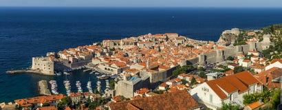 Przegląd stary miasteczko Dubrovnik, Chorwacja obraz stock