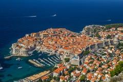 Przegląd stary miasteczko Dubrovnik, Chorwacja zdjęcia stock