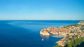 Przegląd Stary miasteczko przy Dubrovnik, Chorwacja fotografia stock