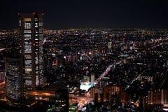 Przegląd Tokio przy nocą zdjęcia royalty free