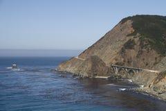 przeglądać bixby bridżowy pobliski ocean Zdjęcia Stock