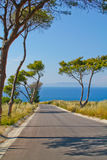 przeglądać drogowy wyspy morze Zdjęcie Stock