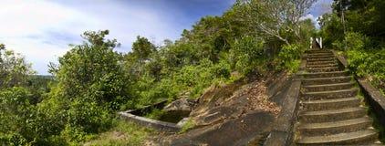 przeglądać kroka panoramiczny kamień Zdjęcia Stock