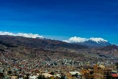 Przegląda nad losem angeles Paz Boliwia obraz stock