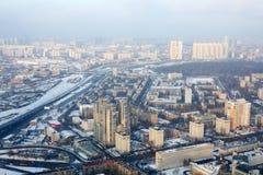 Przegląda od Moskwa miasta na Presnensky okręgu fotografia stock