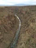 Przegląda od rio grande wąwozu mosta Zdjęcie Stock