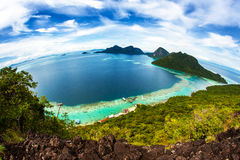 Przegląda wyspę Fotografia Royalty Free