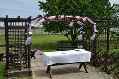 przeglądu przyjęcia ślub Fotografia Stock